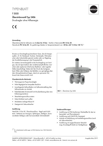 Überströmventil Typ 2406