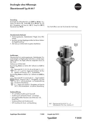Überströmventil Typ M 44-7