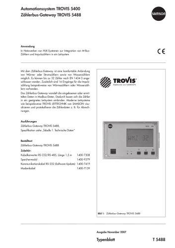 Zählerbus-Gateway TROVIS 5488