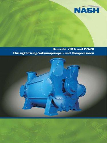 NASH 2BE4 und P2620 - Flüssigkeitsring-Vakuumpumpen und Kompressoren