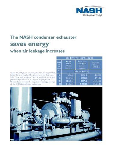 NASH Condenser Exhauster Saves Energy
