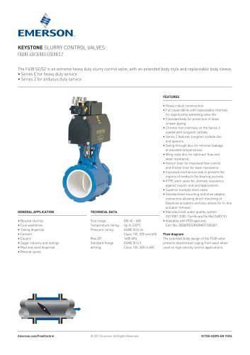 KEYSTONE SLURRY CONTROL VALVES FIGURE 638 SERIES E/SERIES 2