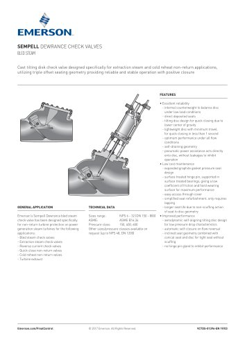 SEMPELL DEWRANCE CHECK VALVES BLED STEAM