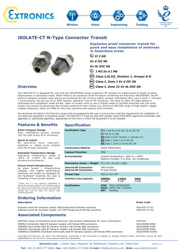 Explosion Proof Connector Transit iSOLATE-CT