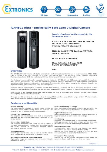 Intrinsically Safe Digital Camera iCAM501 Ultra