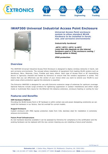 Universal Industrial Access Point Enclosure iWAP300