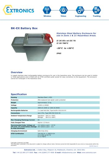 Zone 1/ 21 Battery Box BKEx