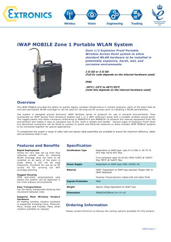 Zone 1 Portable WLAN System iWAP MOBILE