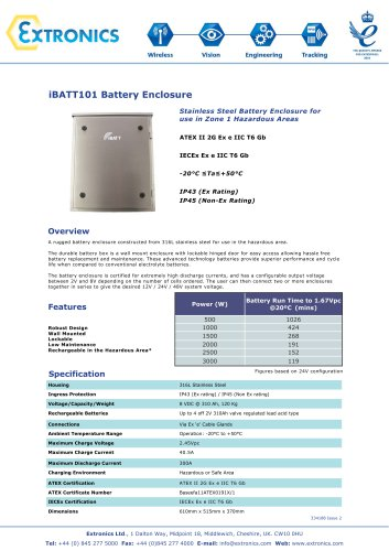 Zone 1 Stainless Steel High Capacity Battery Enclosure iBATT101