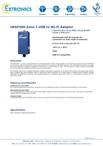 Zone 1 USB WIFI Adapter iWAP400