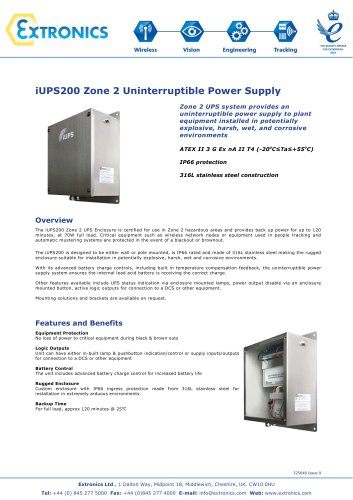 Zone 2 Uninterruptible Power Supply iUPS200