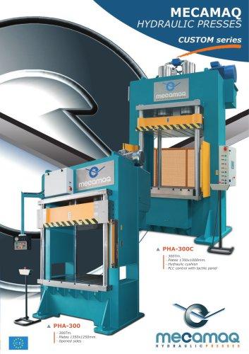 CUSTOM series Hydraulic presses