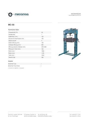 Hydraulikpresse mit einfachwirkender zylinder