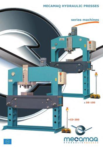 Workshop presses - MD, MC, DE, CD Series