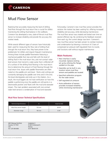 Mud Flow Sensor
