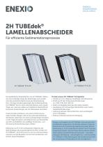 2H TUBEdek Schrägklärer (Lamellenabscheider)