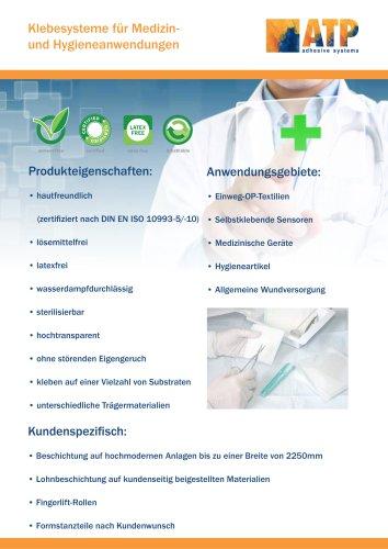 ATP Klebebänder für Medizin und Hygieneanwendungen