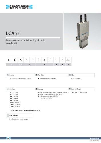 LCA63_Pneumatic retractable locating pin unit, double rod