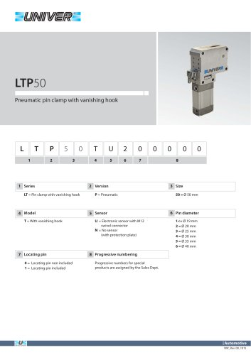 LTP50_Pneumatic pin clamp with vanishing hook