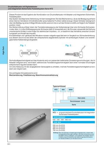 NTZ_Zylinder mit integriertem Feststellsystem und Digitalabtastung