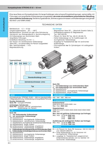 RQ_Kompaktzylinder STRONG Ø 32-63 mm achteckiges Zylinderrohr