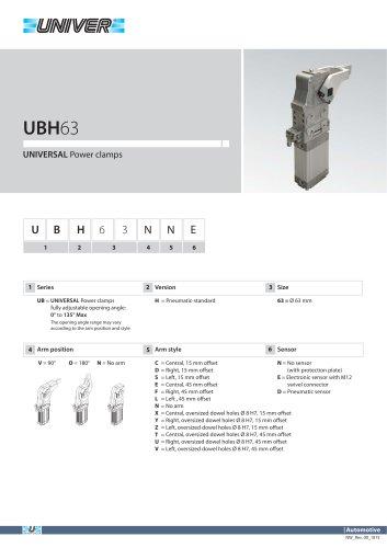 UBH63_UNIVERSAL Power clamps