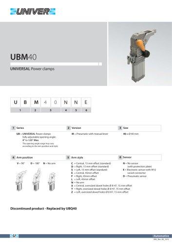 UBM40_UNIVERSAL Power clamps