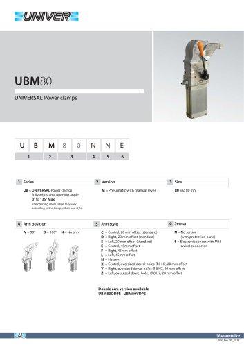 UBM80_UNIVERSAL Power clamps