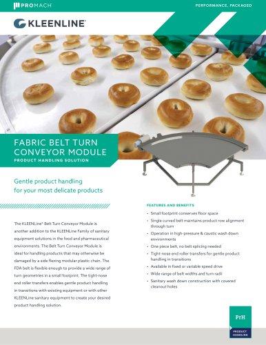 Fabric Belt Turn Conveyor