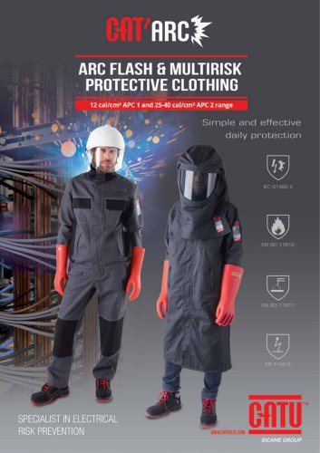 Arc Flash and multirisks clothes CATU