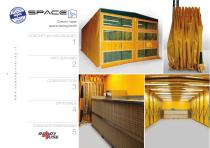 Space-saving booth SPACE