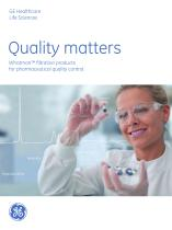 Whatman? filtration products for pharmaceutical quality control.