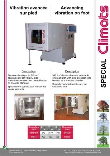Advancing Vibration and Temperature environmental chamber