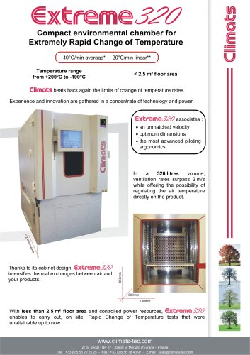 Fast change rate environmental chamber : Extrem 230