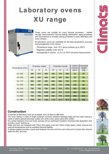 Laboratory Oven - XU range