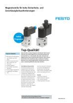 Magnetventile für hohe Sicherheits- und Zuverlässigkeitsanforderungen: VOFC & VOFD