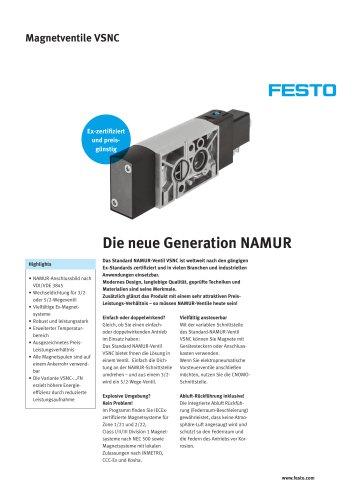Standard NAMUR-Ventil VSNC - Die neue Generation NAMUR