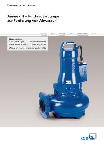 Amarex N ? Tauchmotorpumpe  zur Förderung von Abwasser