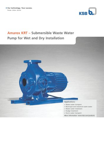 description Amarex KRT, for Wet and Dry Installat