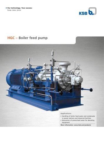 HGC – Boiler feed pump