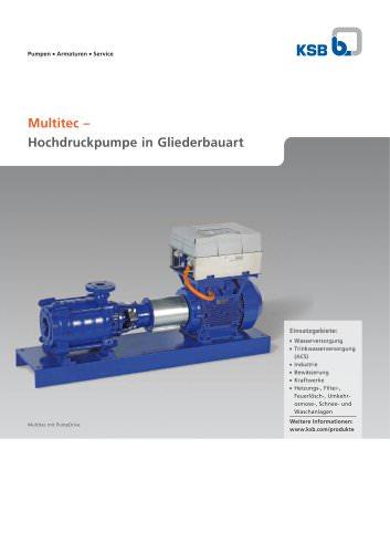 Produkt-2-Seiter Multitec, Hochdruckpumpe