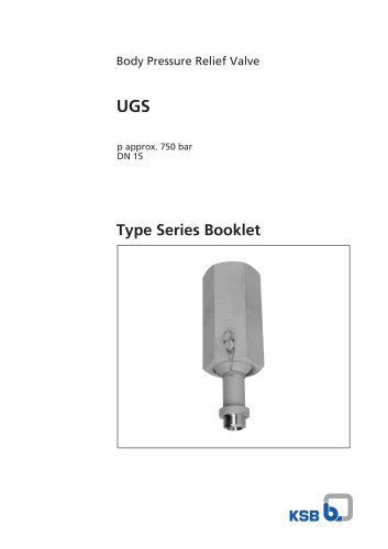 UGS Type Series Booklet