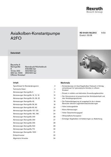 Axialkolben-Konstantpumpe A2FO