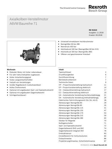 Axialkolben-Verstellmotor A6VM Baureihe 71