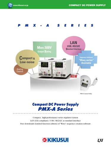 Compact DC Power Supply PMX-A Series