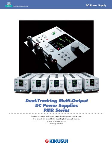 Dual-Tracking DC Power Supply / PMR Series