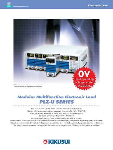 Module Type Electronic Load / PLZ-U Series