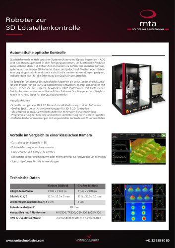 Roboter zur 3D Lötstellenkontrolle