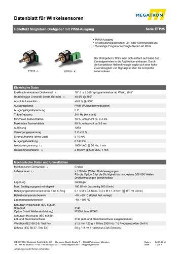 ETP25 PWM Drehgeber