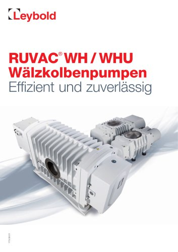 RUVAC® WH / WHU Roots Pumps